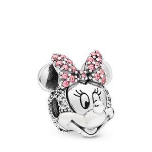 Silver Disney Shimmering Minnie Portrait Clip